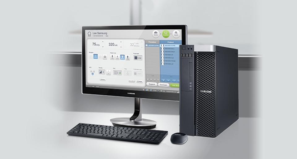 'interfaccia intuitiva della postazione consente un uso semplice del sistema.