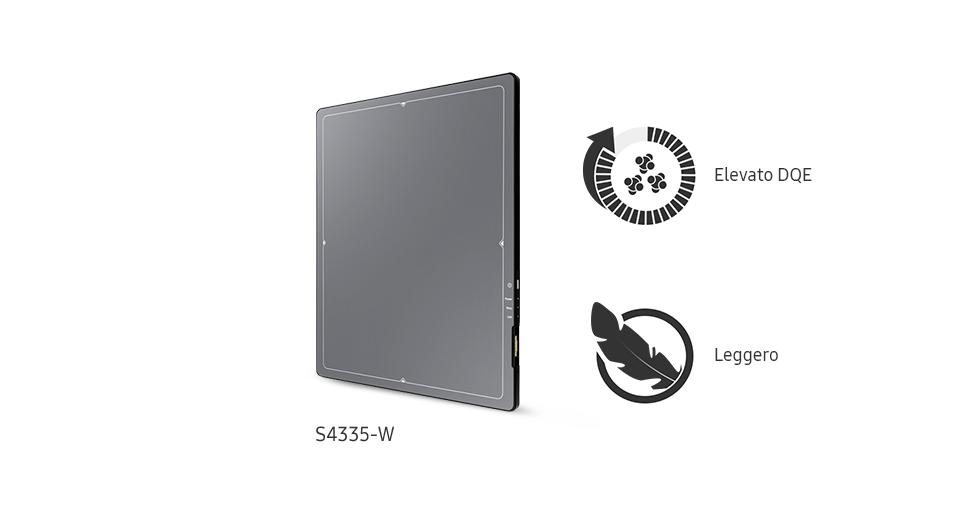 detettori wireless S-Detector™ ad elevato DQE